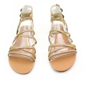 fd80d7965c6 UGG Devie Metallic Gold Leather Gladiator Sandals Boutique